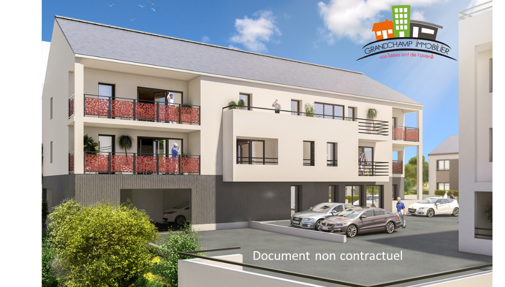 Appartement neuf 62.49 m² 3 pièces - 2 chambres